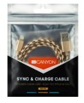 Canyon Braided Lightning USB Cable 1M Gold Metallic