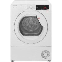 Hoover DXC8TCE Freestanding 8kg Condenser Tumble Dryer White with Chrome Door