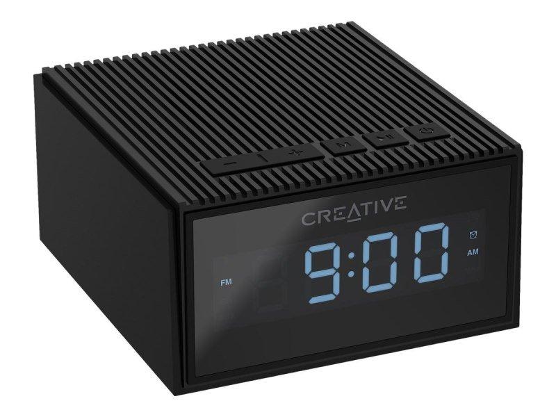 Creative Chrono Portable Splash-proof Bluetooth Speaker and FM Radio Clock