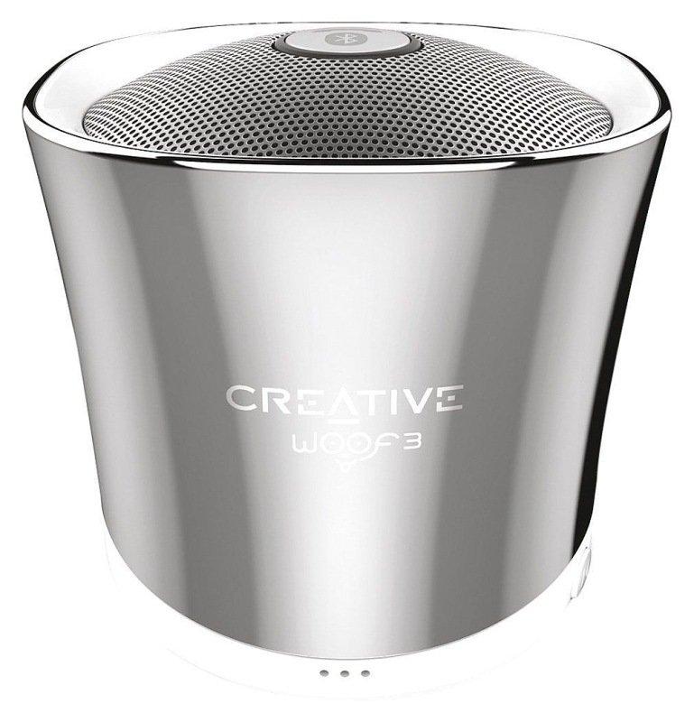 Creative Woof 3 Mini Speaker - Chrome