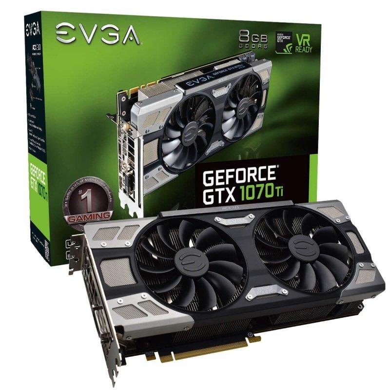 EVGA GeForce GTX 1070 Ti FTW ULTRA SILENT GAMING 8GB GDDR5 Graphics Card