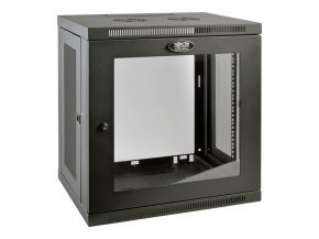 SmartRack 12U Low-Profile Switch-Depth Wall-Mount Rack Enclosure Cabinet with Clear Acrylic Window