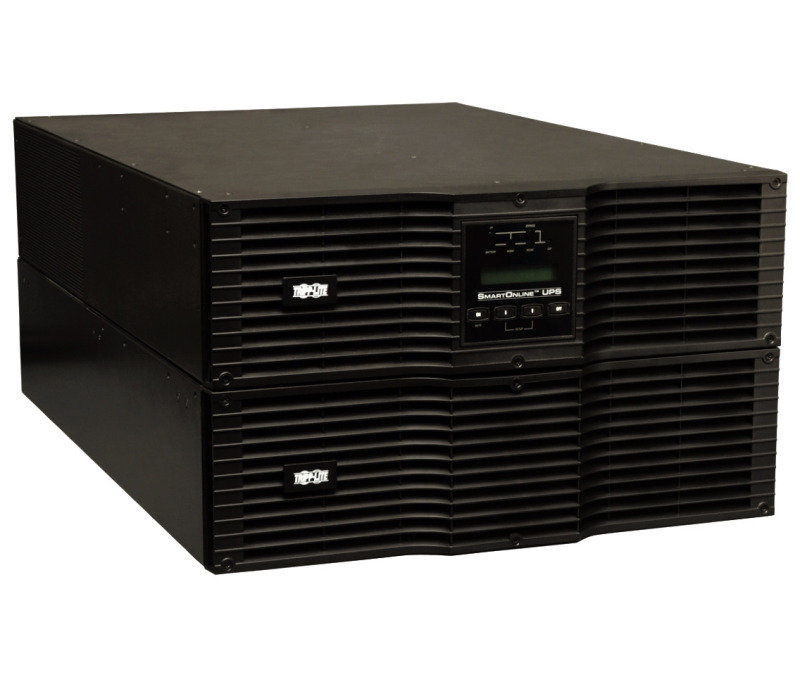 SmartOnline 200-240V 10kVA 9kW Double-Conversion UPS, 6U, Extended Run, Network Card Slot, USB, DB9, Bypass Switch,C19