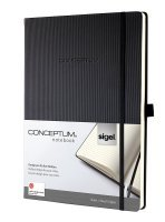 Sigel CONCEPTUM (Black) Softcover Lined (A5) Notebook