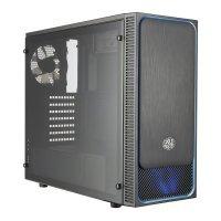 Coolermaster Masterbox E500L Blue Trim Computer Case