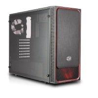 Coolermaster Masterbox E500L Red Trim Computer Case