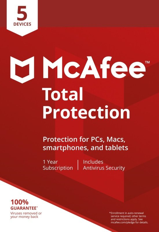 McAfee Total Protection 5 Device 1 Year Subscription