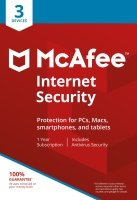 McAfee Internet Security 3 Devices 1 Year Subscription