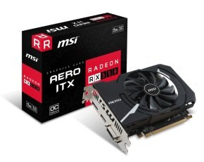MSI Radeon RX 550 Aero ITX 4G OC 4GB GDDR5 Graphics Card