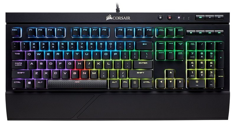 Corsair K68 RGB Mechanical Gaming Keyboard - Cherry MX Red Switches