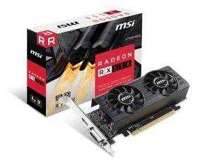 MSI Radeon RX 550 4GT LP OC 4GB GDDR5 Graphics Card