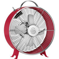 Swan SFA12630RN 8 Retro Red Clock Fan