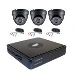 Nightwatcher  External CCTV System 1TB DVR, 3 Dome 720p Cameras