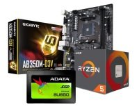 Gigabyte AB350M-D3V Motherboard with Ryzen 5 1600 Processor and SSD Bundle