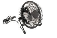 HQ Black Desk Fan USB powered 2.5W