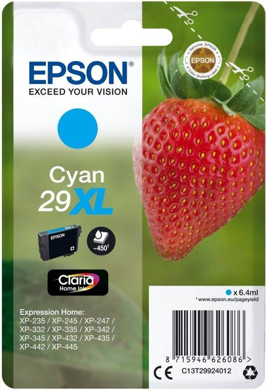 Epson Strawberry 29XL Cyan Ink Cartridge
