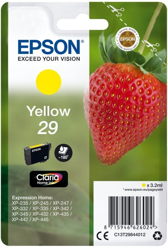 Epson Strawberry 29 Yellow Ink Cartridge