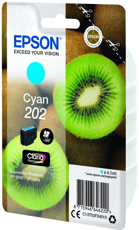 Epson Kiwi 202 Cyan Ink Cartridge