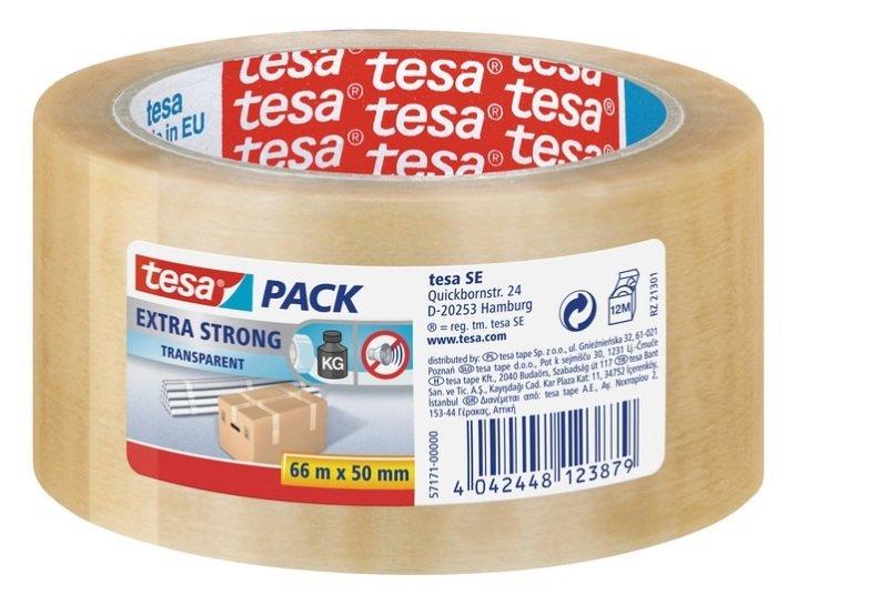 Tesa X-Strong PVC Tape 50mmx66m CLR PK6