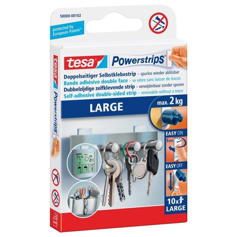 Tesa Powerstrips Large Strips PK10
