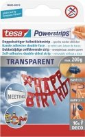 Tesa Powerstrips Clear Deco PK16