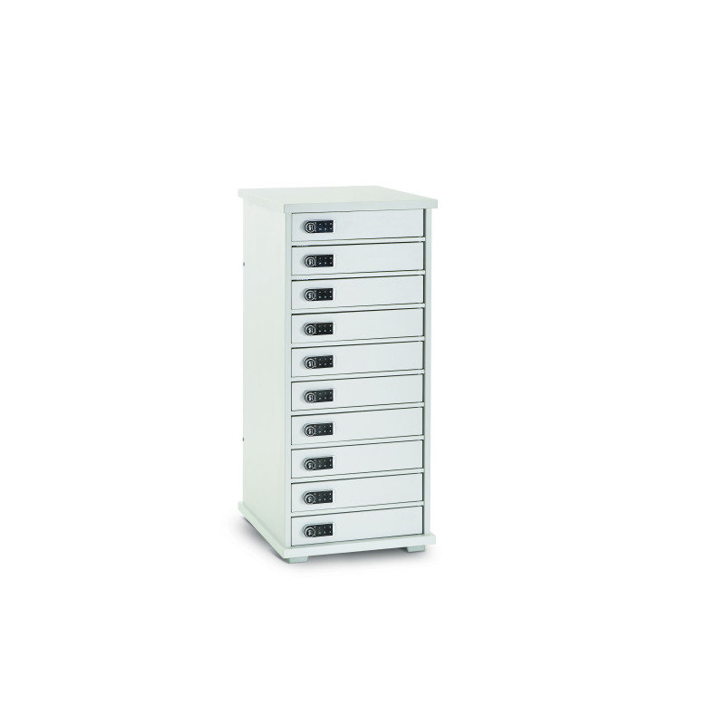 Lapcabby Lyte Multi Mini 10 Store & Charge Cabinet with Individual Key-pad Locking Doors