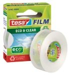 Tesafilm eco & clear tape 19mmx33m PK8