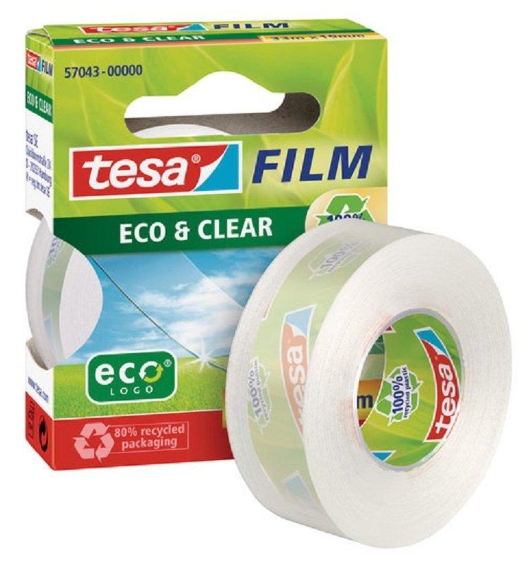 Tesafilm eco & clear tape 19mmx33m PK8