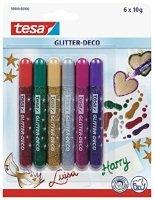 Tesa Glitter Pens 6 Asst Col 59900