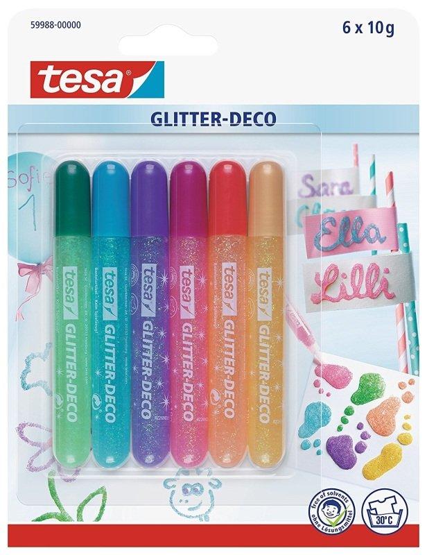 Tesa Glitter Pens 6 Pastel Col