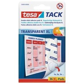 Tesa Transparent Tack XL Dble Sided PK36