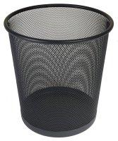 Osco Mesh Waste Bin Lightweight Sturdy Scratch Resist (Black)