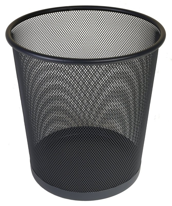 Osco Mesh Waste Bin Lightweight Sturdy Scratch Resist (Black)
