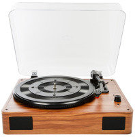 Turntable with Built in Speakers -  3-Speed, Stereo Speakers