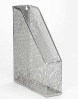 Osco Mesh Magazine Rack Silver