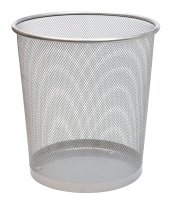Osco Mesh Waste Bin 35cm Silver