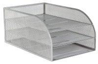 Osco Mesh 3 Tray Assembled Silver