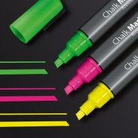 Sigel Chalk Marker50 chisel 1-5mm Pink/Green/Yellow PK3