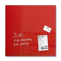 Sigel Magnetic Glass Board artverum 48x48x1.5cm Red