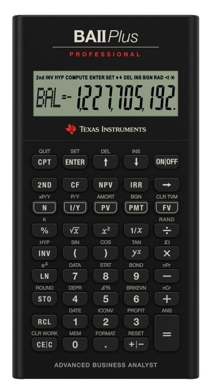 BA II Plus Pro Financial Calculator
