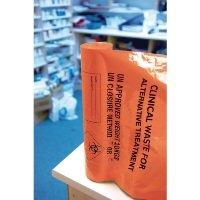 Clinical Waste Sack For Alternative Treatment Heavy Duty 10kg Capacity Orange