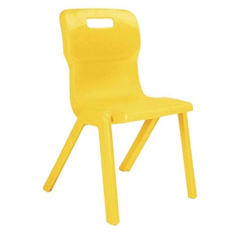 Titan 1 Piece Chair 460mm Yellow (Pack of 30)