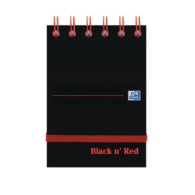 Image of Black n Red A7 Wirebound Notebook 140 Pages (Pack of 5)