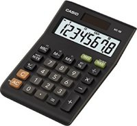 Casio MS-8B CS 8-digit Tax/Currency Calculator (Black)
