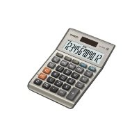 Casio MS-120BM 12-digit Cost/Sell/Margin/Tax Desktop Calculator (Silver)