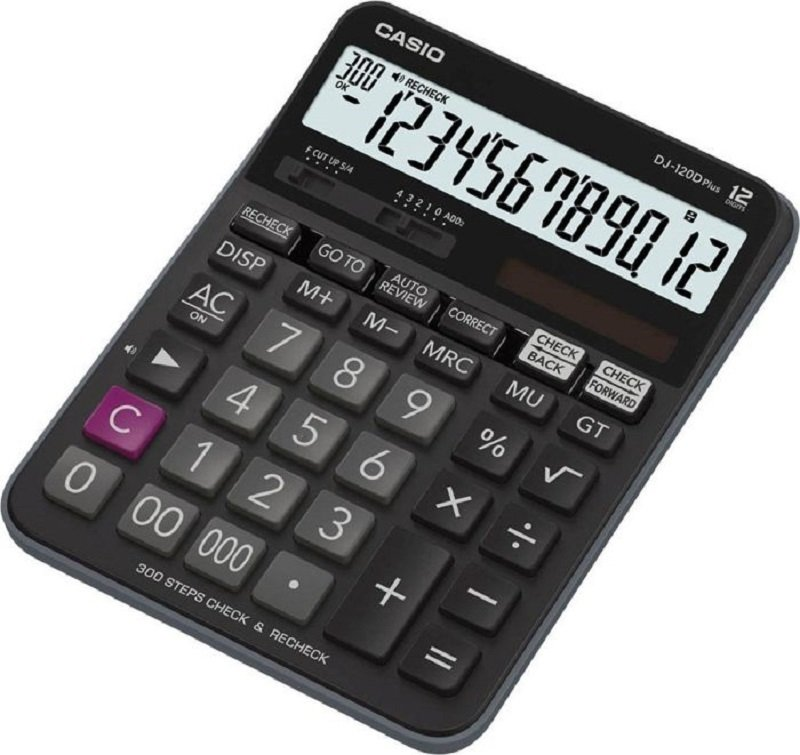 Casio DJ-120D Plus Desktop Calculator with Check and Correct Function (Black)