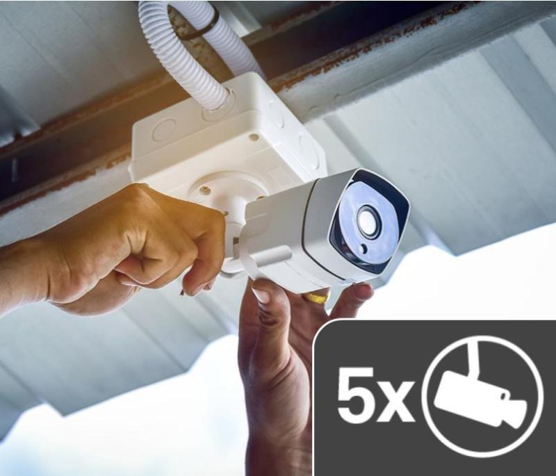 5 Cameras CCTV Non IP Installation Service