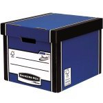 Fellowes Bankers Box Premium (A4/Foolscap) Archive Storage Box Blue/White (1 x Pack of 10 Storage Boxes)