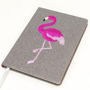 Sequin Notes Flamingo