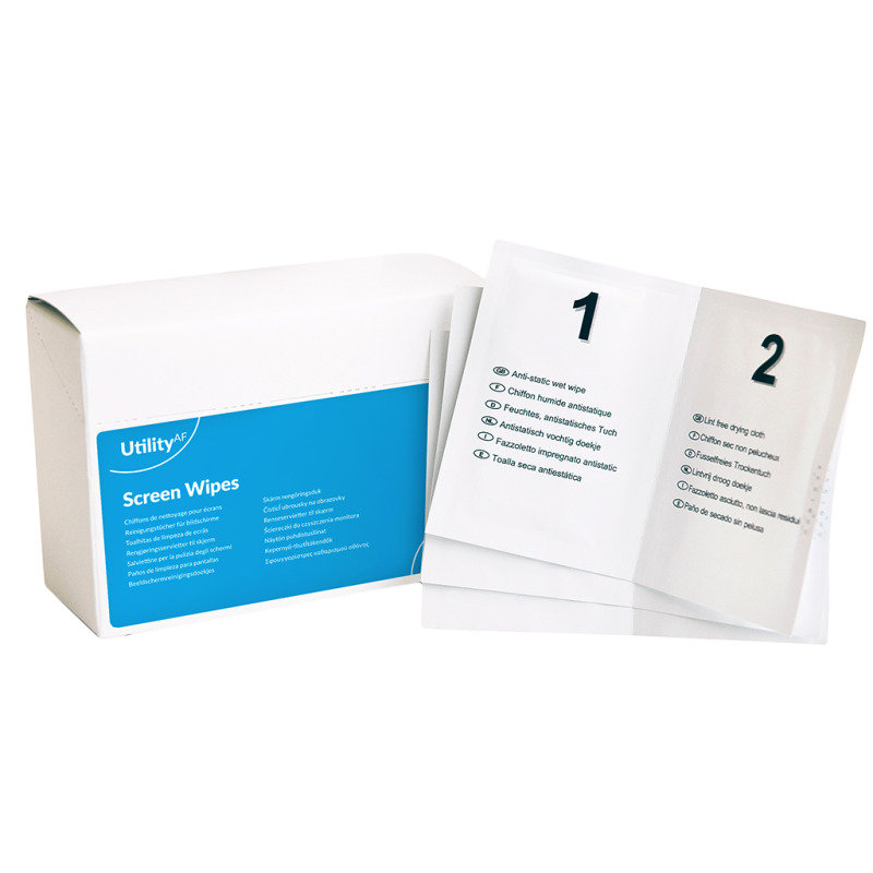 Image of Value Wet And Dry Screen Wipes Duo (Pack 20)